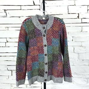 Appleseed's Button Up Cardigan Multi Color 1637